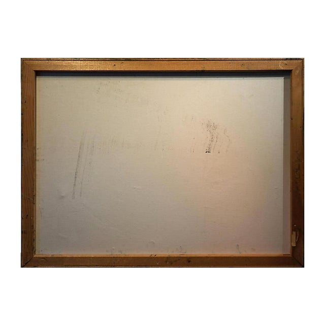 1970s Abstract in Charcoal and Sage, 1960s For Sale - Image 5 of 6