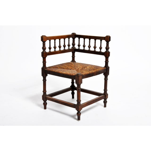 French Wooden Corner Chairs - a Pair For Sale In Chicago - Image 6 of 13