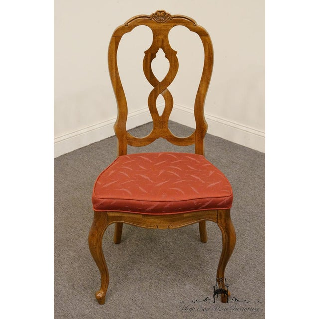 French Country Late 20th Century Vintage Thomasville Furniture Camille Collection Dining Chair For Sale - Image 3 of 10