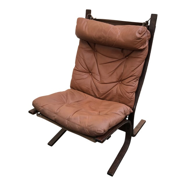1960s Danish Modern Ingmar Relling for Westnofa Leather Sling Chair For Sale