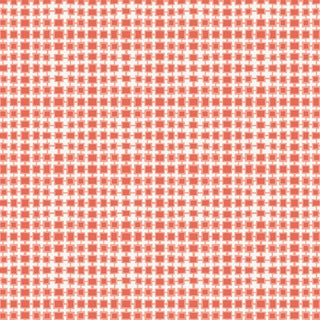 House of Harris Essex Fabric, Coral For Sale