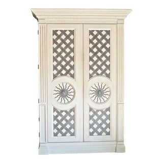 Drexel Heritage Bel Aire Contemporary Modern Light Finish Armoire For Sale