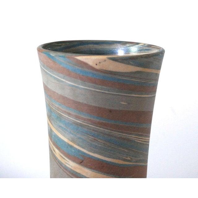 1910 Mission Niloak Gray Pottery Swirl Vase Chairish