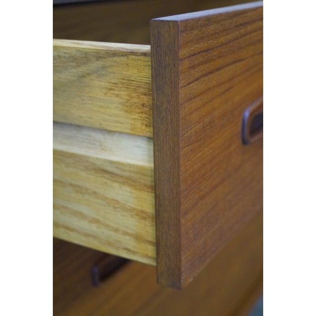 Danish Modern Mid Century Teak 6 Drawer Dresser - Image 7 of 10