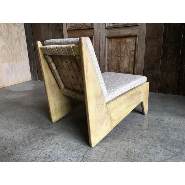 Mid-Century Modern Architectural Modernist Slipper Chair For Sale - Image 3 of 7