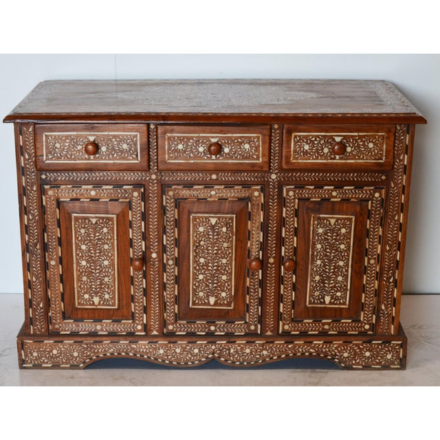 Anglo Indian Bone Inlay Cabinet For Sale In Los Angeles - Image 6 of 6