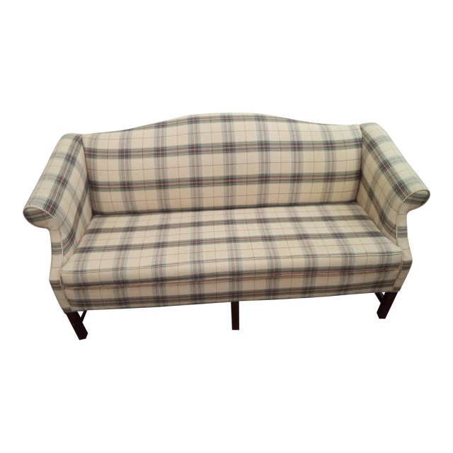 Paul Robert Chippendale Style Camelback Sofa For Sale
