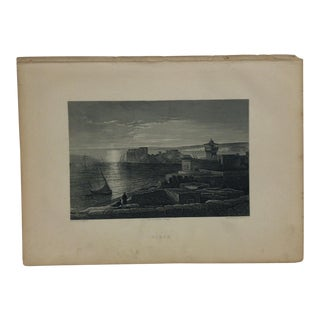 "Antique Original Engraving on Paper ""Sidon"" by J. Cramb Circa 1890 For Sale"