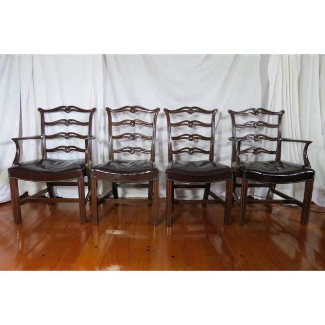 Chippendale Ribbon Back Dining Chairs - Set of 8 For Sale - Image 4 of 13