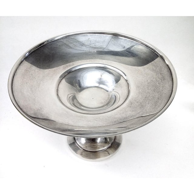 Vintage Pedestal Silver Plate Candy Condiment Dish For Sale - Image 4 of 8