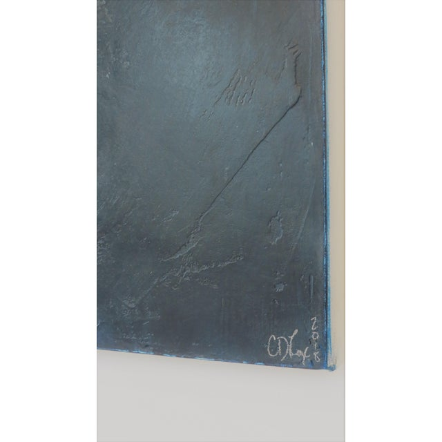 Light Over Darkness, Indigo. 2018 Oil on Canvas by C. Damien Fox For Sale In Houston - Image 6 of 8