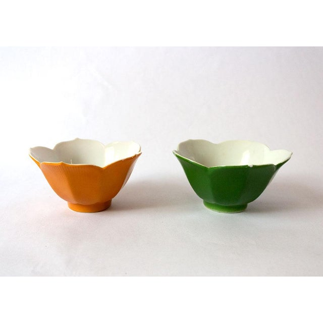 1970s Vintage Japanese Lotus Bowls - a Pair For Sale - Image 5 of 5