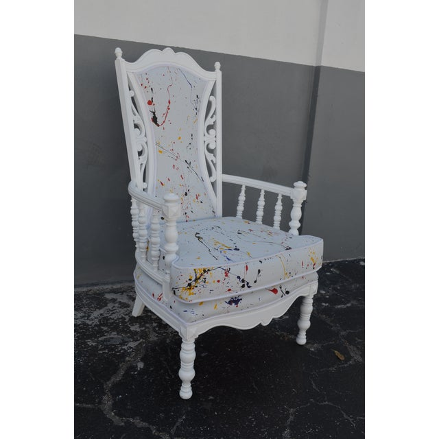 Mid 20th Century Vintage Mid-Century Hollywood Regency Style Chair For Sale - Image 5 of 13