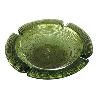 1950s Green Mid-Century Modern Ashtray For Sale