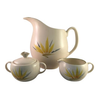 Mid-Century Modern Winfield Bird of Paradise China Set- 3 Pieces For Sale