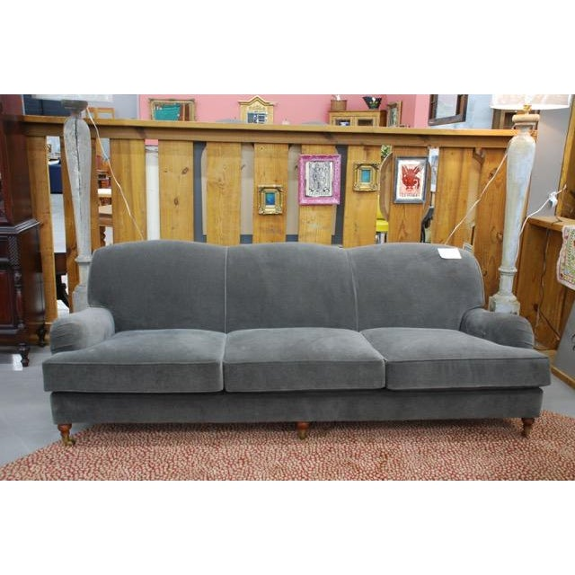 Ralph Lauren Home Langholm Gray Velvet Sofa - Image 5 of 5