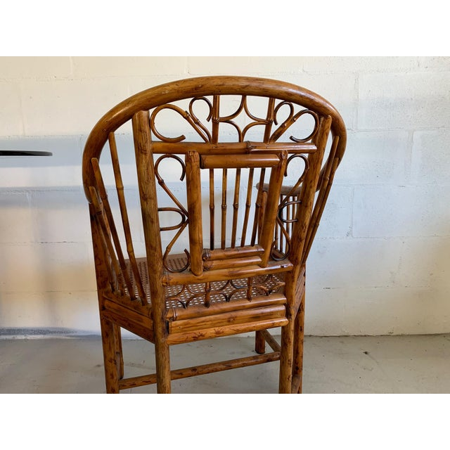 Brighton Pavilion Rattan Dining Set 4 Chairs and Table - Set of 5 For Sale In Jacksonville, FL - Image 6 of 10