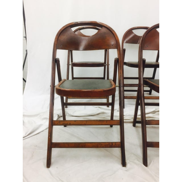 Vintage Bentwood Folding Chairs - Set of 6 For Sale - Image 5 of 11