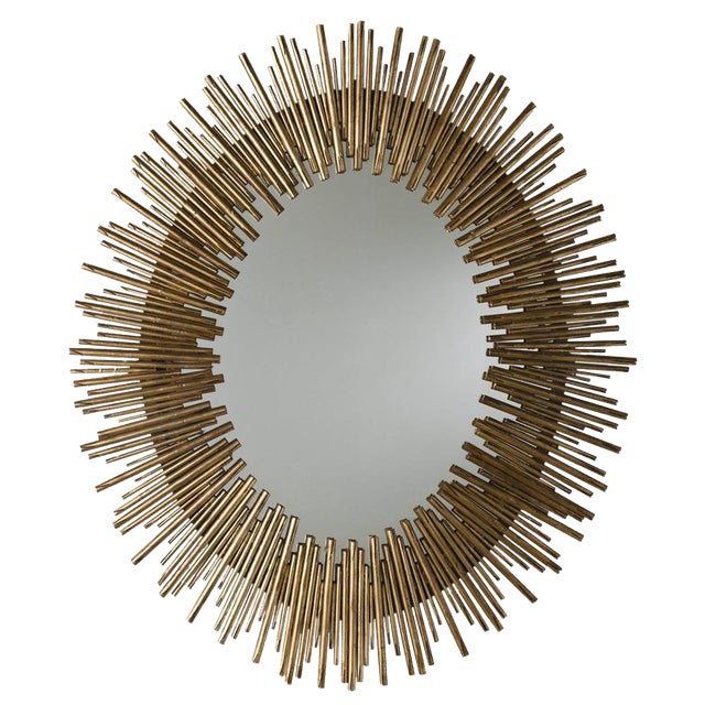 Prescott Oval Sunburst Mirror For Sale