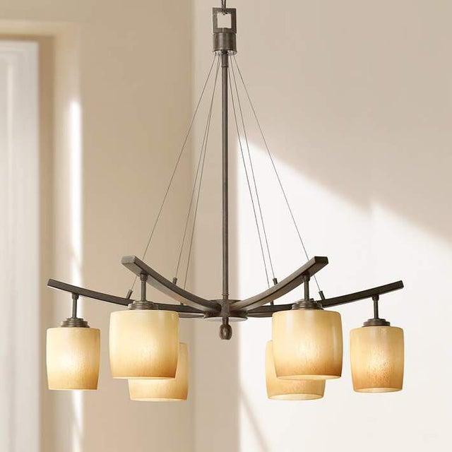 Modern industrial chandelier chairish modern industrial chandelier image 2 of 3 aloadofball Gallery