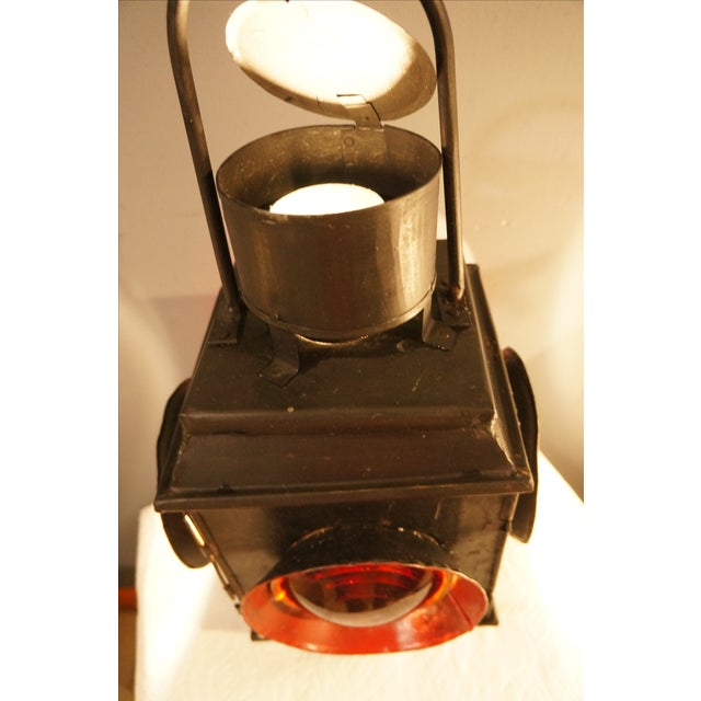 Antique Railroad Signal Light Table Lamp - Image 5 of 8
