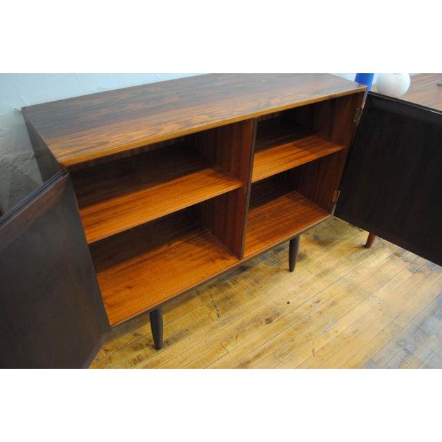 Danish Modern Rosewood 2 Door Cabinet - Image 4 of 10