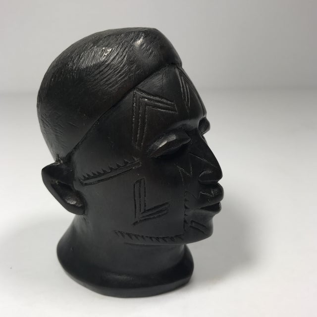 Antique Carved Wooden Head - Image 2 of 11