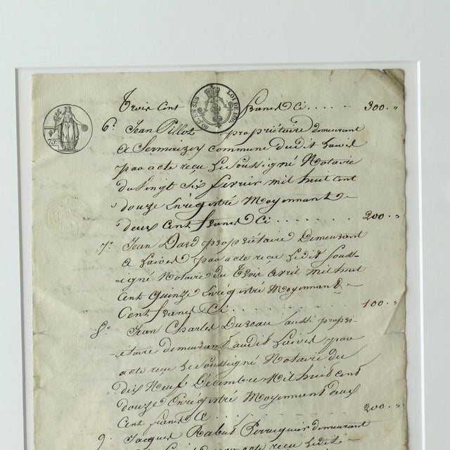 Antique French Farmer's Transcript For Sale - Image 4 of 7