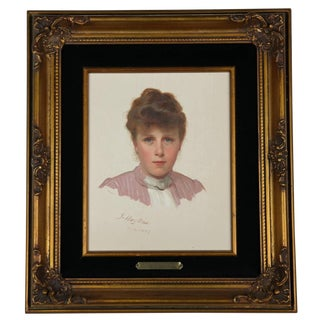"""Late 19th Century Vintage """"Portrait of a Young Woman"""" Painting by James Hayllar For Sale"""