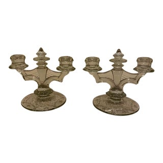 Vintage Art Deco Webwing Candlesticks - A Pair For Sale