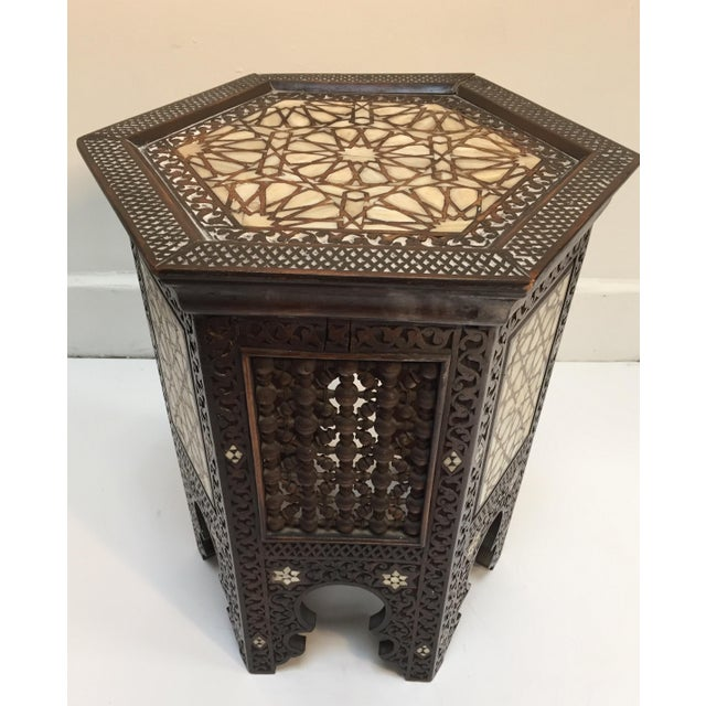 19th Century Syrian Mother-Of-Pearl Inlaid Side Table For Sale - Image 12 of 12