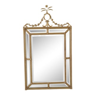 Friedman Brothers Gold Frame Beveled Mirror For Sale