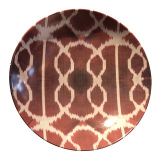 Les Ottomans Red Ikat Bowl For Sale