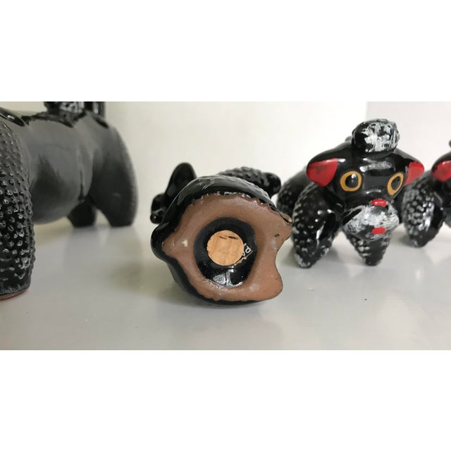 1950's Poodle Salt and Pepper Shaker With Pups - Set of 7 For Sale In Los Angeles - Image 6 of 7