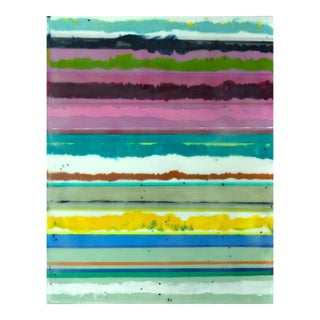 "Original Encaustic Stripes Painting ""Confections No. 40"" by Gina Cochran"