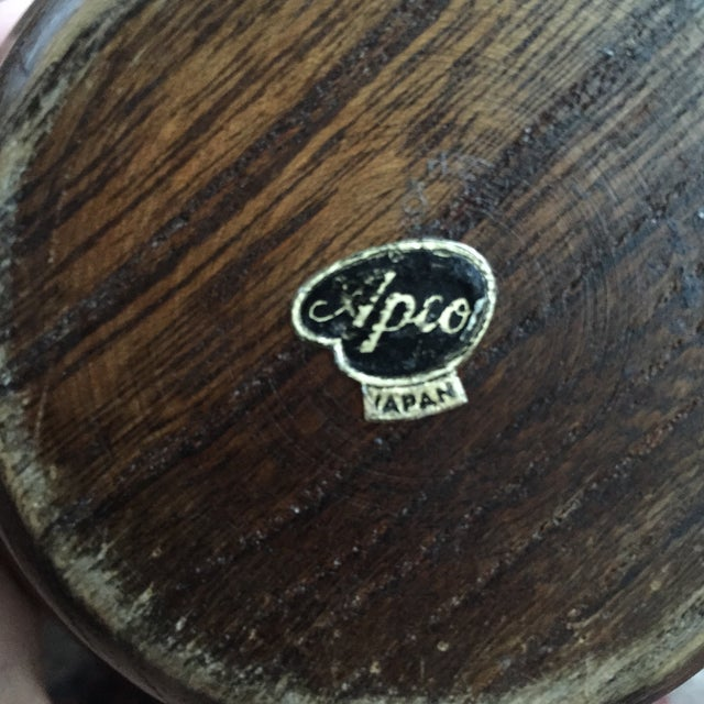 Vintage Round Wooden Dish - Image 6 of 6