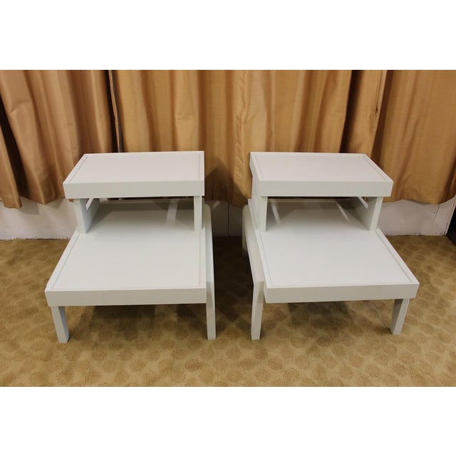 Mid-Century 1950s Step End Tables - A Pair - Image 4 of 9
