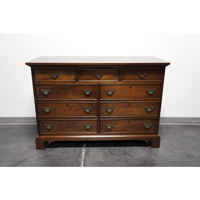 Vintage CRAFTIQUE Solid Mahogany Chippendale Nine Drawer Dresser - Image 3 of 11