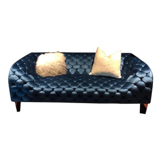 Blue Velvet Sofa For Sale