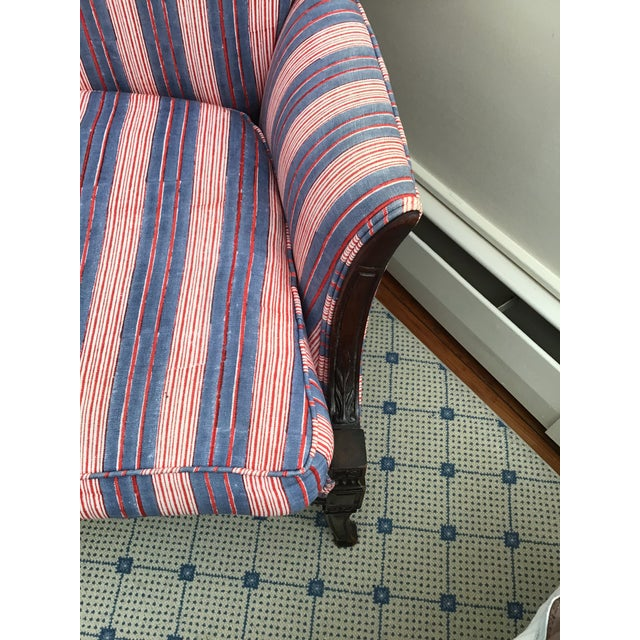 Antique Chairs With John Robshaw Vintage Stripe Cora Fabric - a Pair For Sale In Washington DC - Image 6 of 13
