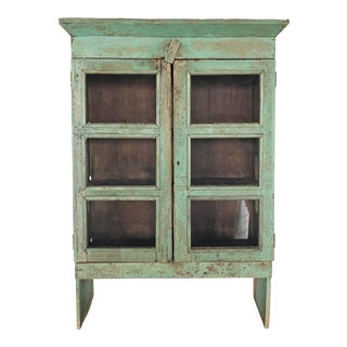 Mid 19th Century Americana Original Patina Painted Pie Safe For Sale