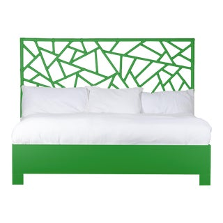 Tiffany Bed King - Bright Green For Sale