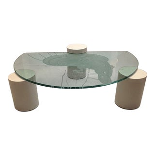 1980s Art Deco Coffee Table For Sale