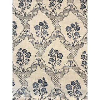 Cottage Schumacher Marella Delft Fabric - 2 Yards For Sale