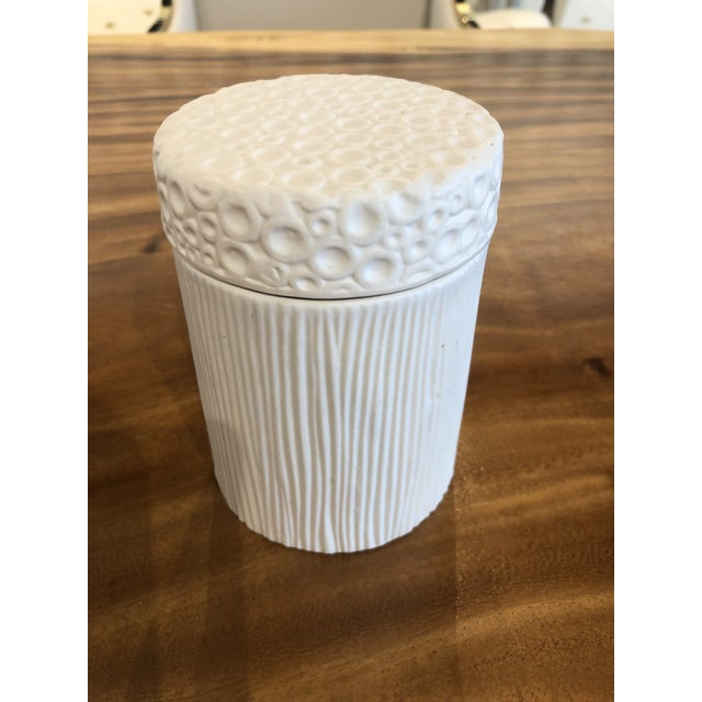 2010s Moonscape Jar White Matte Candle Holder For Sale - Image 5 of 7