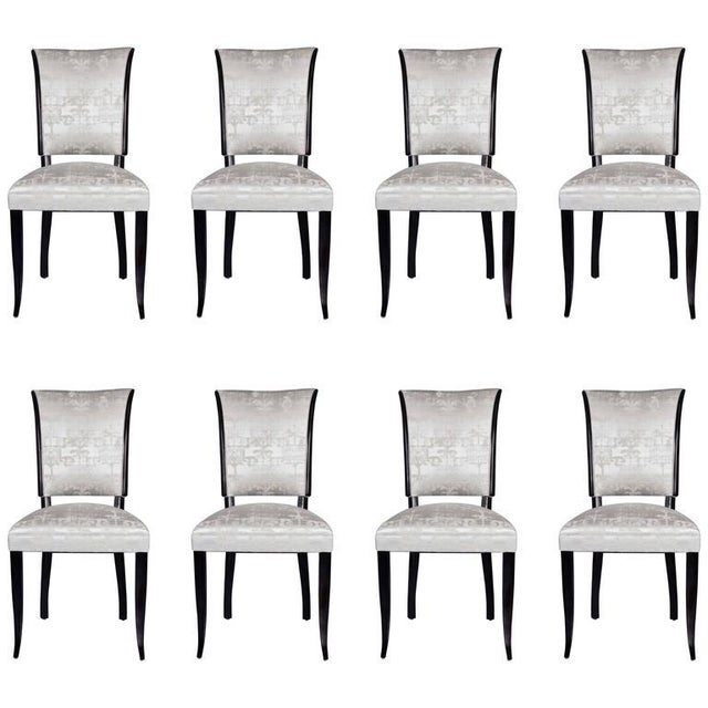 Set of Eight French 1940s Dining Chairs - Image 9 of 9