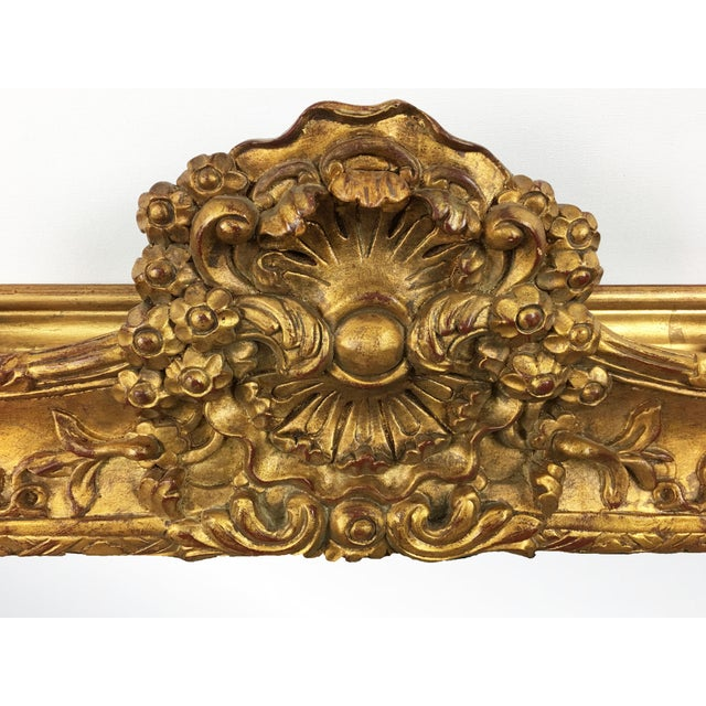 Empire 20th Century Empire Mirror Frame With English Crown Motif For Sale - Image 3 of 4