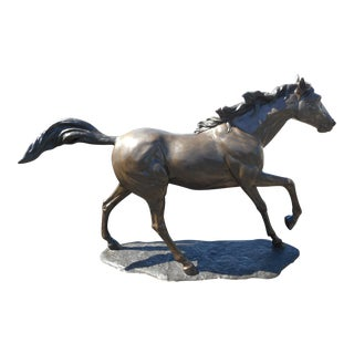 Large Bronze Figurative Statue of Horse For Sale