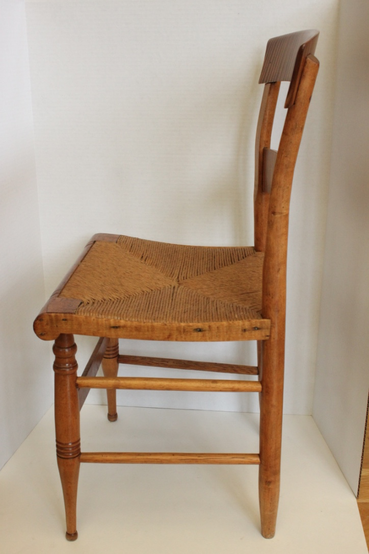 Federal Tiger Maple Chairs   Set Of 4   Image 6 Of 10