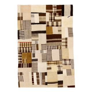 "Boho Rustic Patchwork Rug - 3'2"" X 4'9"" For Sale"
